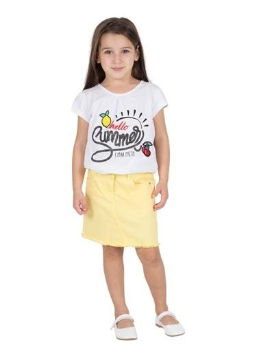 Silversun Kids Kız Çocuk Cepli Dokuma Etek Fc 215530 Sarı